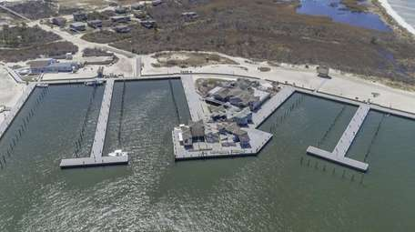 The repaired Watch Hill marina on Fire Island,