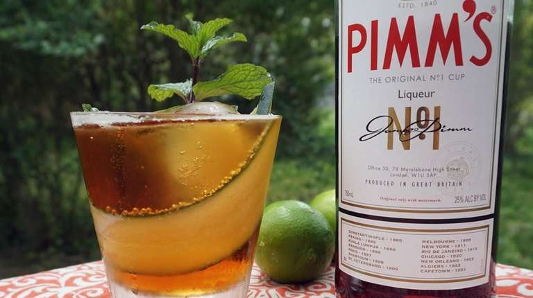 This twist on the Pimm's Cup uses ginger