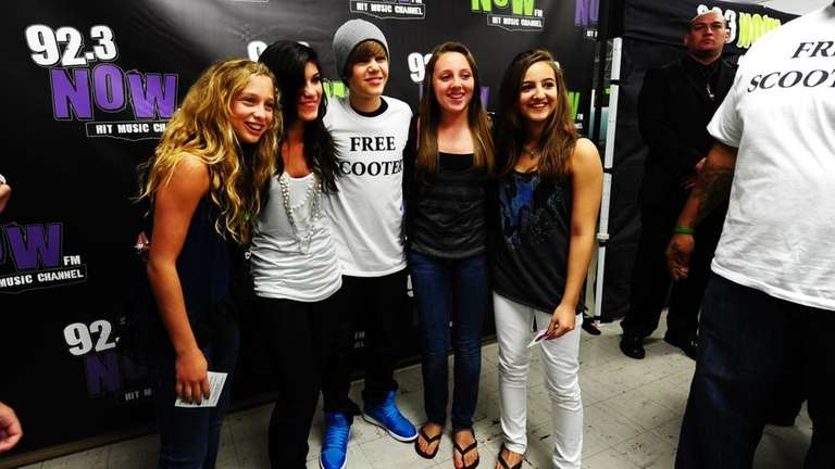 Teen pop star Justin Bieber at Long Beach