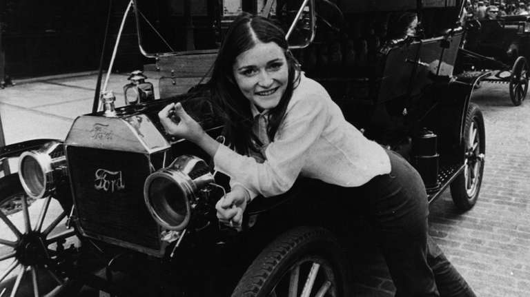 Canadian actress Margot Kidder relaxes on the set