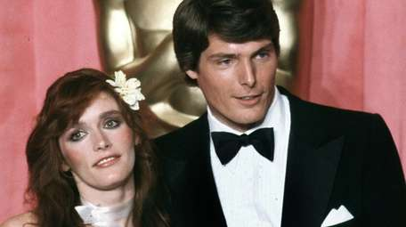 Actress Margot Kidder and actor Christopher Reeve at