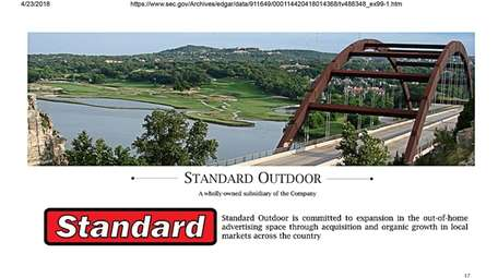 Standard Outdoor, a subsidiary of Standard Diversified Inc.,