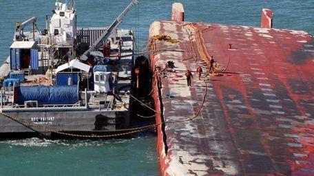 The National Response Corp.'s NRC Valiant oil spill