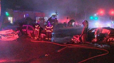 A motorist crashed his car into a Citgo