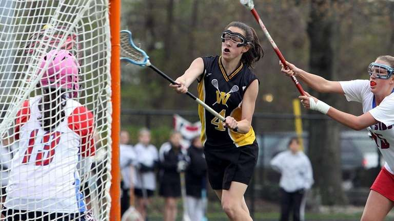 Jackie Sileo scores one of her seven goals