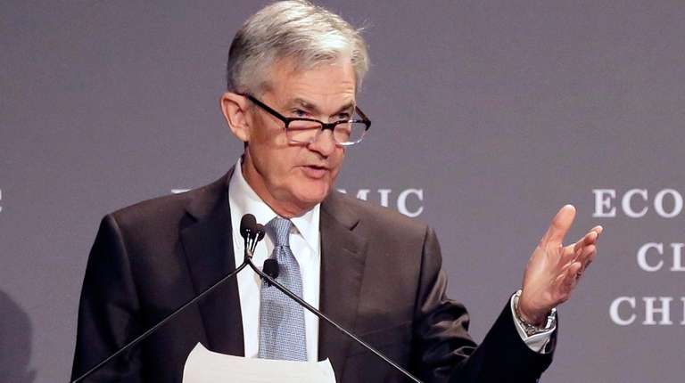 Federal Reserve chairman Jerome Powell speaks before the