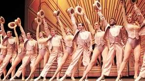 """The company of """"A Chorus Line"""" performs the"""
