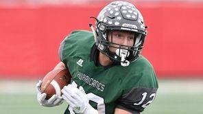 Westhampton Beach's Dylan Laube runs for a touchdown