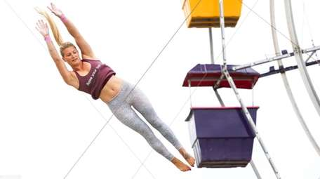 An I.Fly Trapeze instructor in Long Beach.