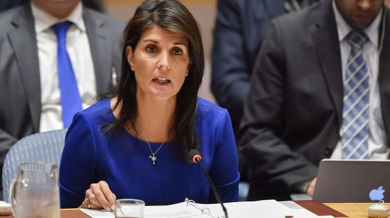 Nikki Haley, U.S. ambassador to the UN, seen