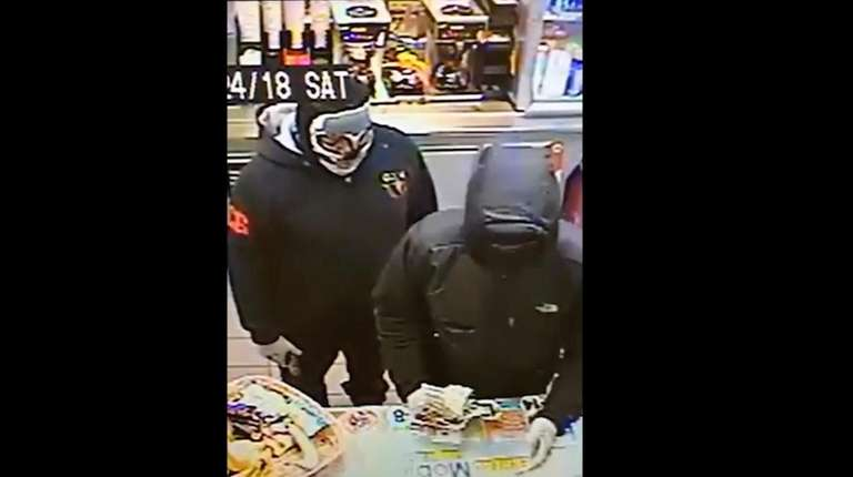Police released surveillance video of two men they