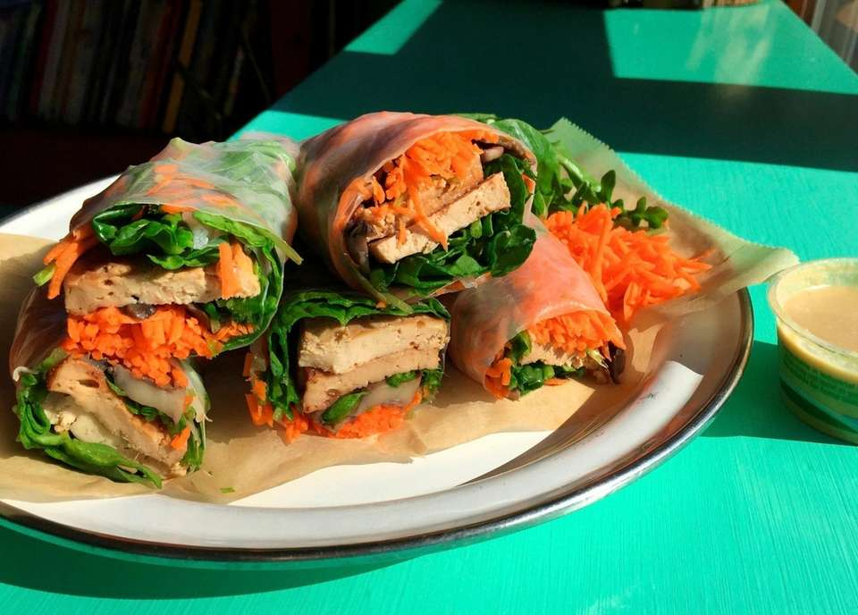 The Thai Me Up vegetable wrap, served at