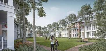 A rendering of Syosset Park, a development proposed