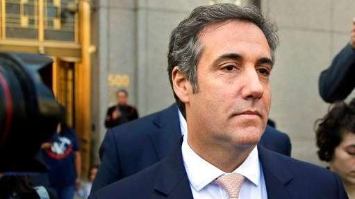 Michael Cohen leaves federal court in Manhattan in