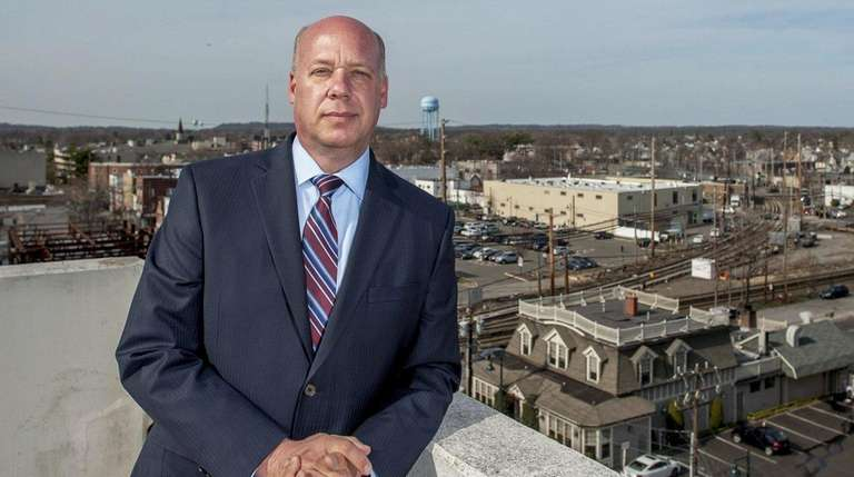 Mineola Mayor Scott Strauss, seen in April 2015,