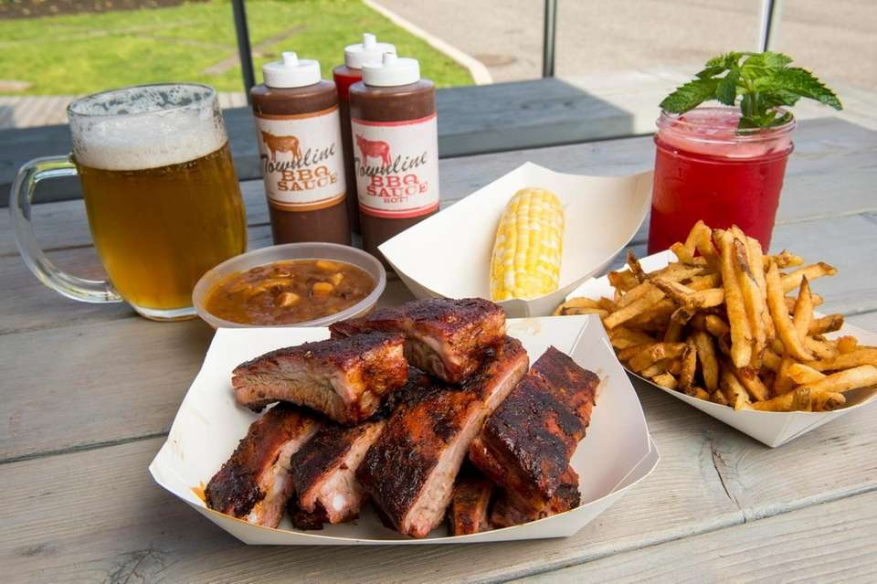 Ribs served at Townline BBQ in Sagaponack.