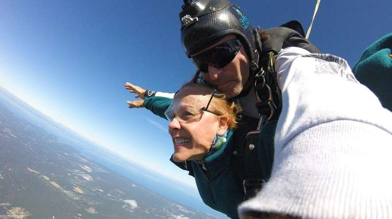 Dorothy Cardi skydiving on Sept. 29, 2017 to