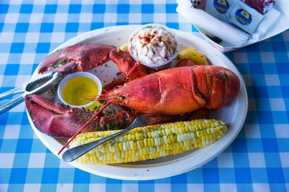 Billy's 1 1/4 pound lobster meal. Billy's by
