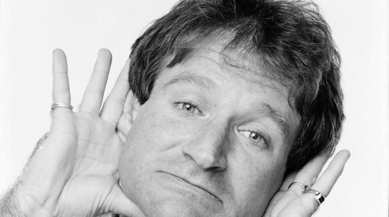 Robin Williams photographed in April 1984. A new