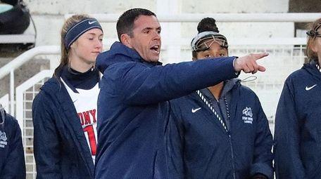 Stony Brook women's lacrosse head coach Joe Spallina