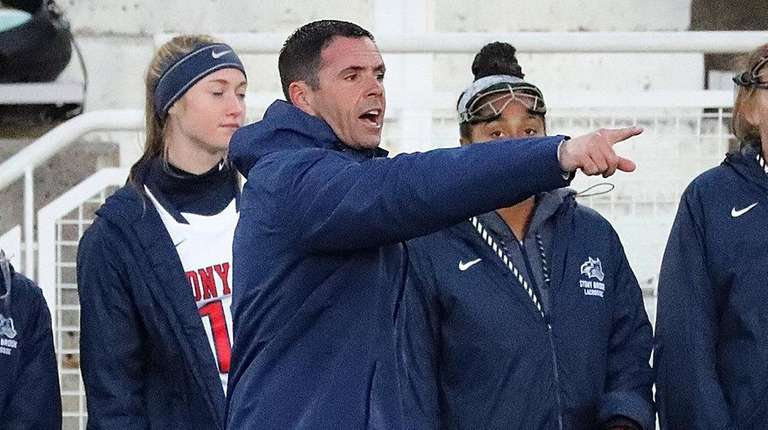 Stony Brook women's lacrosse head coach Joe Spallina
