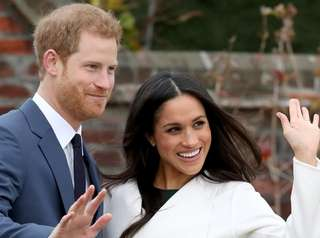 Prince Harry and actress Meghan Markle during an