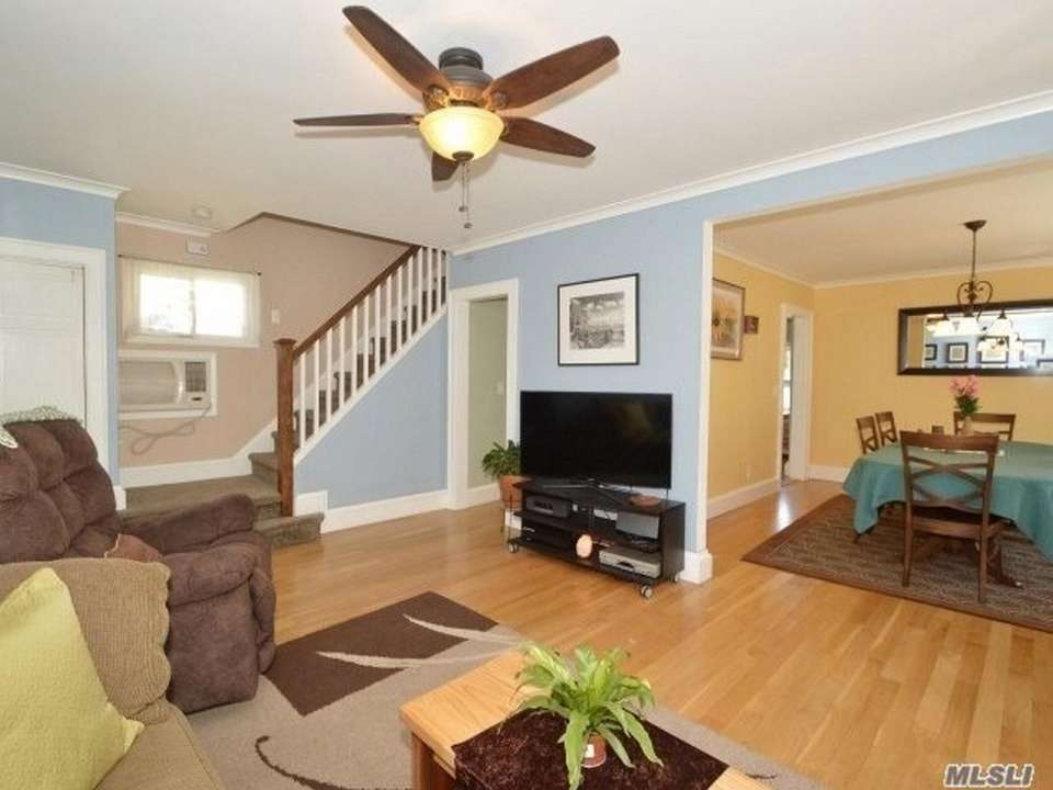 The main level of this Floral Park Colonial