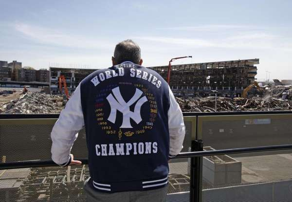 Yankees fan Bruce Dain of the Bronx, N.Y.