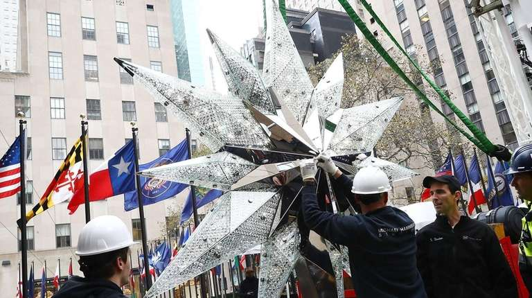The Swarovski star atop the top of the