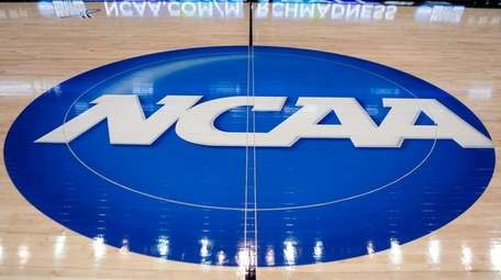 The NCAA logo is displayed at center court