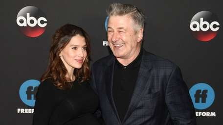 Hilaria Baldwin and Alec Baldwin attend the Disney/ABC/Freeform