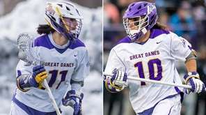 This composite image shows Albany's Reh twins, Justin