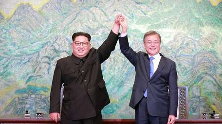 North Korea's leader, Kim Jong Un, and South