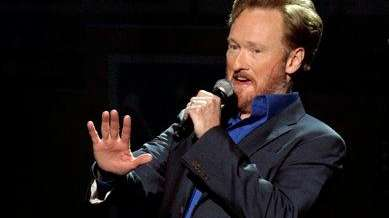 Former ?The Tonight Show? host Conan O?Brien performs
