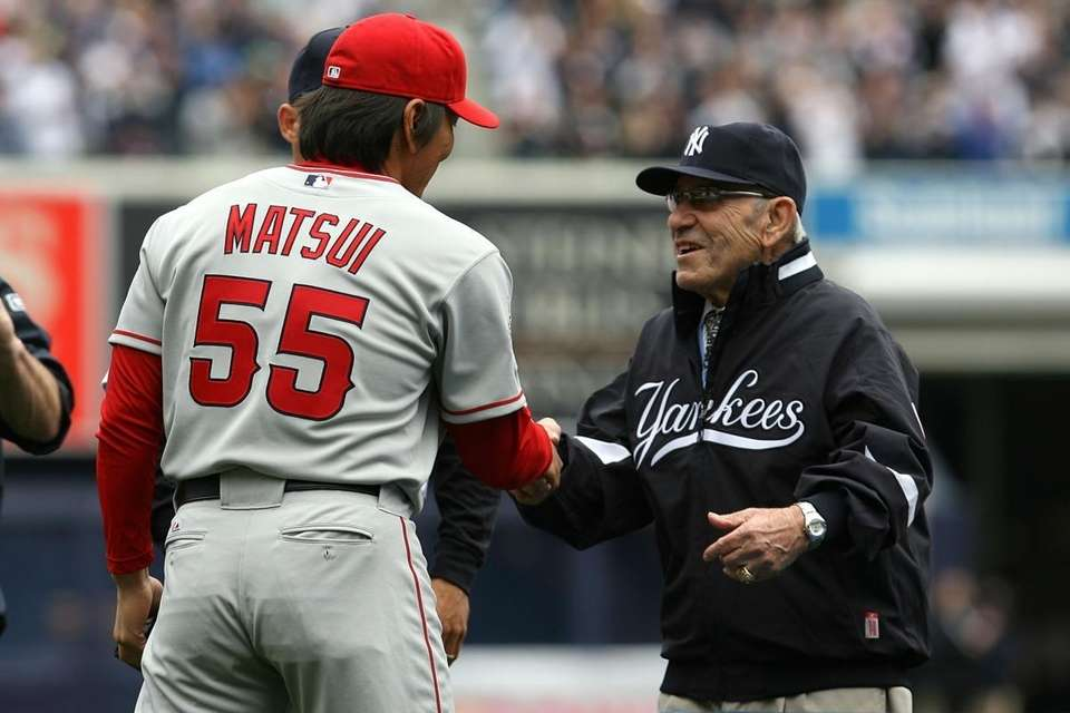 NEW YORK - APRIL 13: Yankee legend and