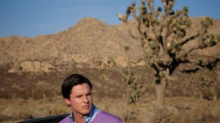 A Zegna men's purple pullover sweater featured at
