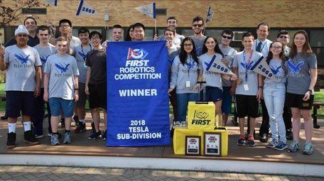 Bethpage High School's robotics team was part of