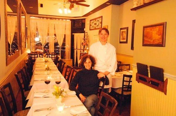 Photographs of the restaurant Bistro du Village, at