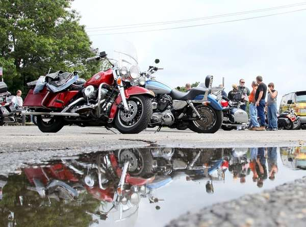Motorcycles in Mastic Beach
