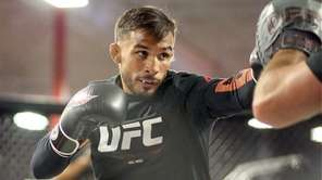 Dennis Bermudez at the UFC Long Island workouts