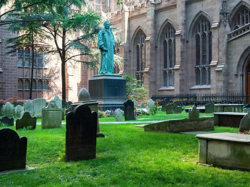 Trinity Church and its small cemetery is one