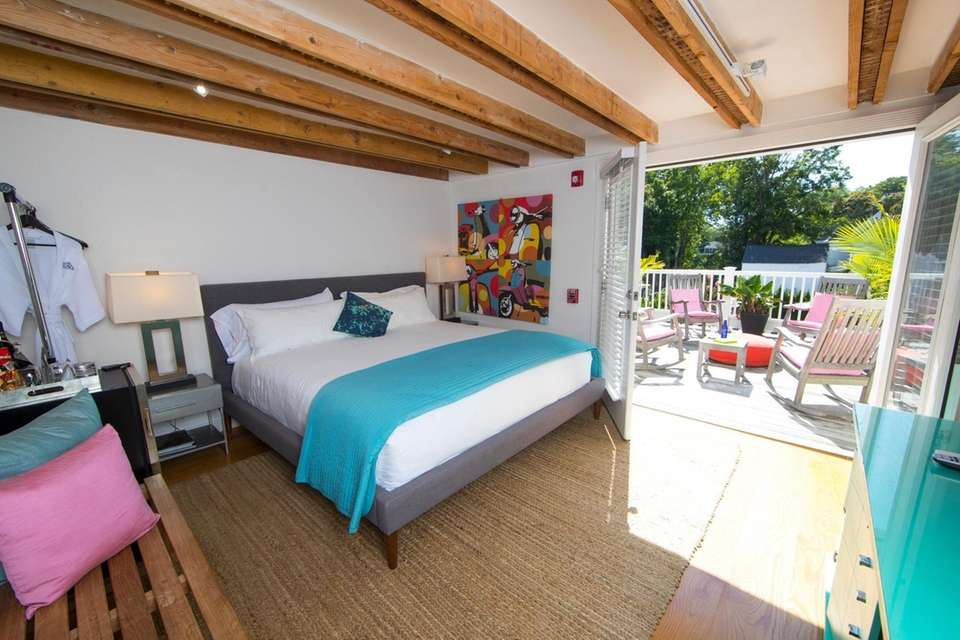 The King Room with private deck at the