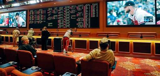 People place bets at the South Point hotel