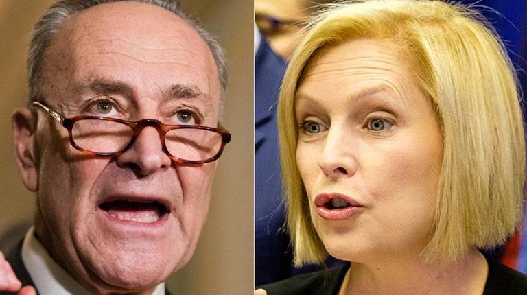 Democratic Sens. Chuck Schumer and Kirsten Gillibrand.