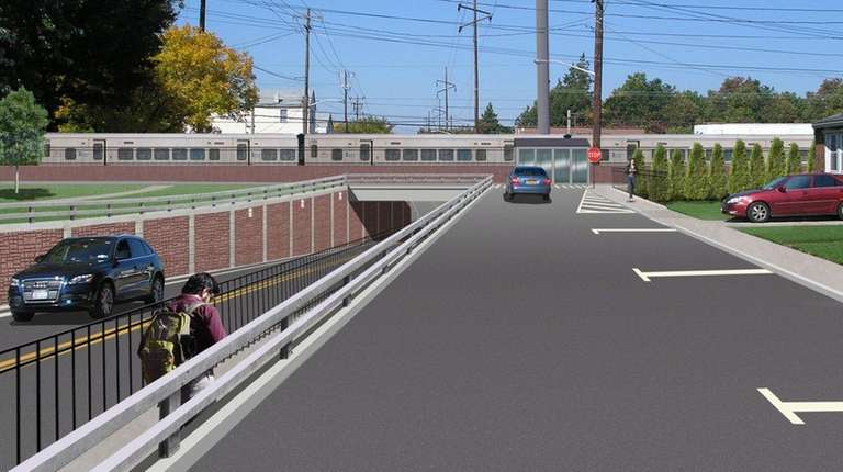 An artist's rendering shows the Covert Avenue underpass