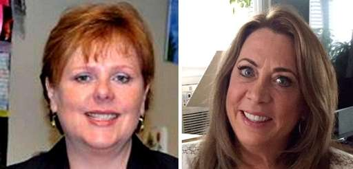 Licensed clinical social workers Cheryl Hecht, left, of