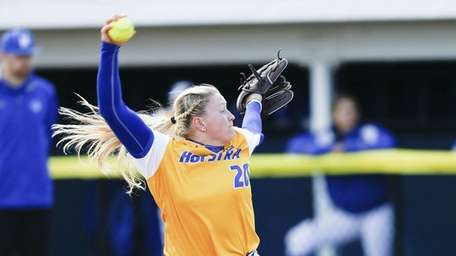 Hofstra's Sarah Cornell, the CAA Pitcher of the