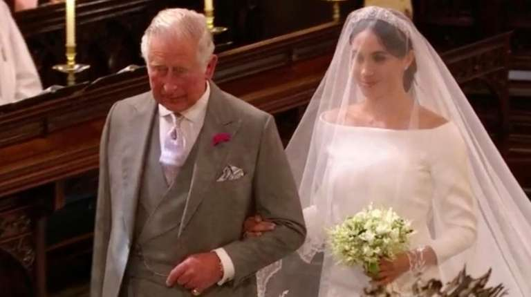Meghan Markle wears Givenchy wedding dress by British designer | Newsday