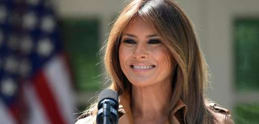 First lady Melania Trump returned to the White