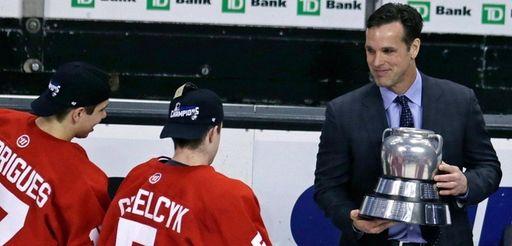 Boston University hockey head coach David Quinn.